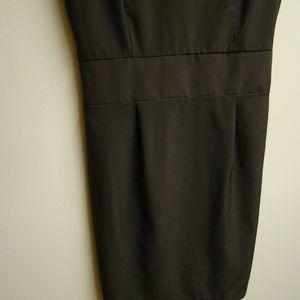Myan Dresses - Myan Black Lace and Brown Dress